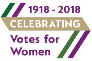 1918 - 2018 Celebrating Votes for Women (Vote 100 logo)