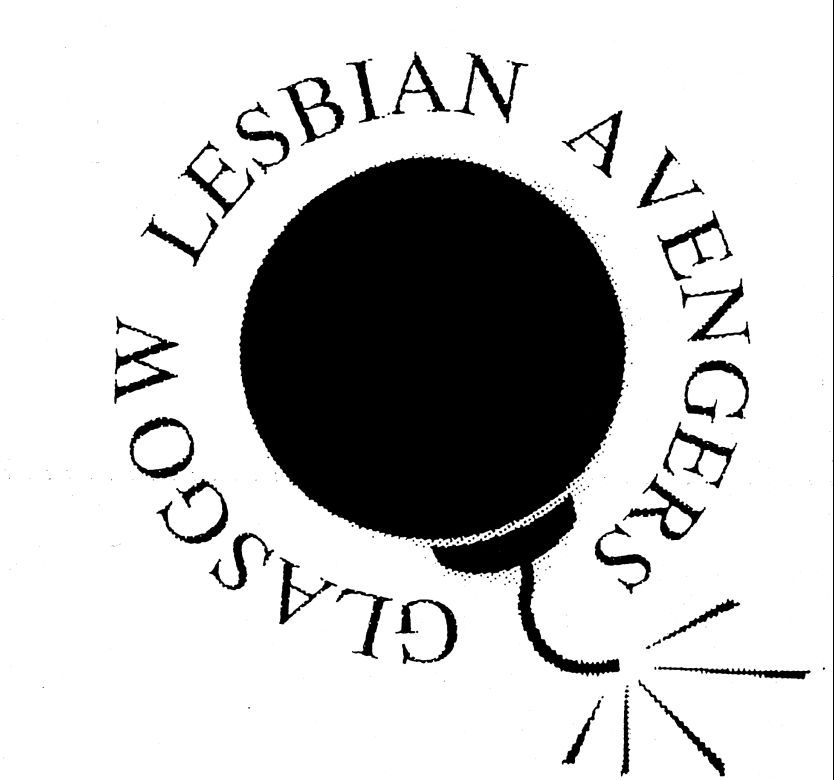 Image from the Lesbian Archive at Glasgow Women's Library reading Glasgow Lesbian Avengers: We Object!