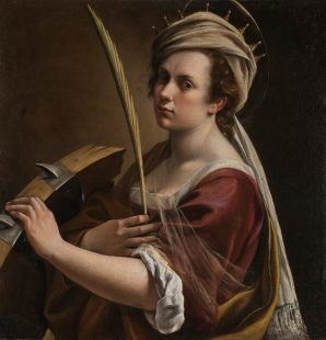Artemisia Gentileschi. Self Portrait as Saint Catherine of Alexandria. Credit: © The National Gallery, London. Bought with the support of the American Friends of the National Gallery, the National Gallery Trust, Art Fund (through the legacy of Sir Denis Mahon), Lord and Lady Sassoon, Lady Getty, Hannah Rothschild CBE, Dr Anita Klesch, Mr A Gary Klesch and other donors including those who wish to remain anonymous, 2018.