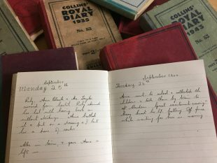 Elizabeth Taylor's Farming Diary from the 1940s. Credit: GWL