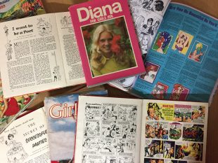 Girls annuals from the GWL collection such as Diana, Girls, Jackie