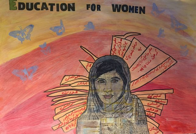 Education for Women artwork from the Centenary of Womens Suffrage Celebration Event Credit: GWL