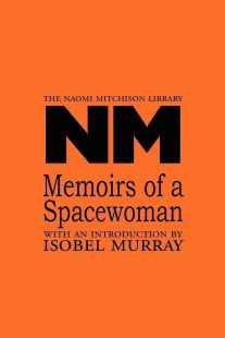 Memoirs of a Spacewoman bookcover in orange with black text