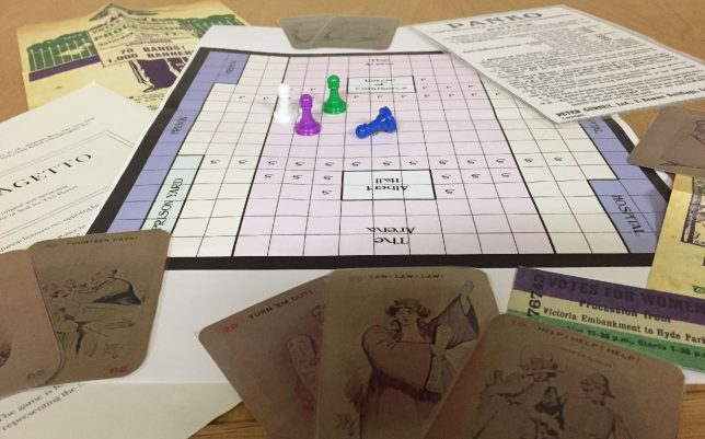 Panko and Suffragetto. Suffrage boardgames