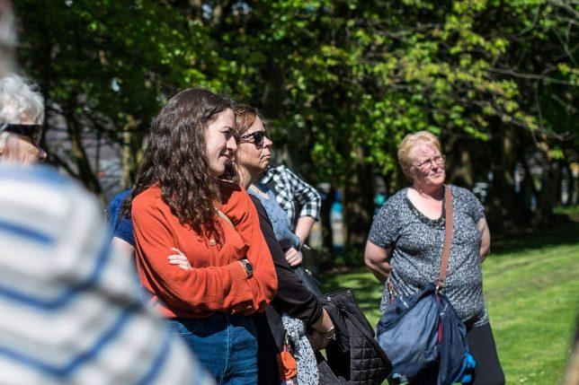 Women photographed on the Women's Heritage Walks. Credit: Katy Owen