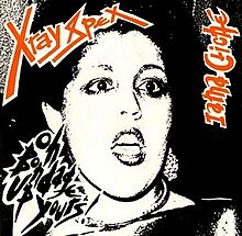 Artwork for single. Lead singer pictured in a comic book style. It is black and white with the title of song and band in red and large font.