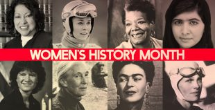Image of important women in history in relation to Women's History Month.