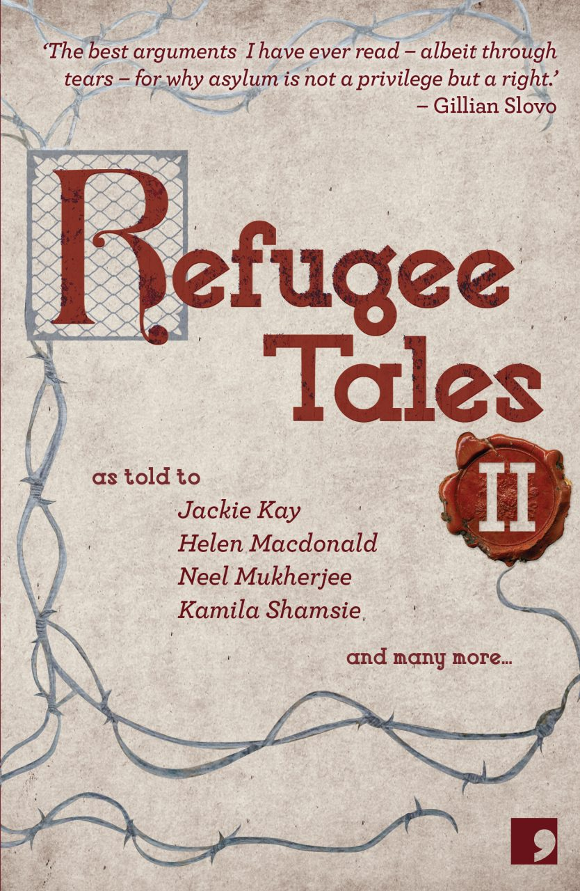 Refugee Tales Volume II Book Cover. Credit: Comma Press
