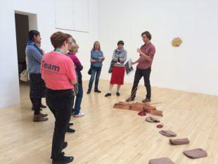 Visiting Talbot Rice Gallery, 2018. Credit: GWL