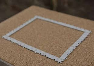 Interregnum no. 1, laser cut puzzle bricks, cork and wool, by Sogol Mabadi, 2018. Credit: Iman Tajik