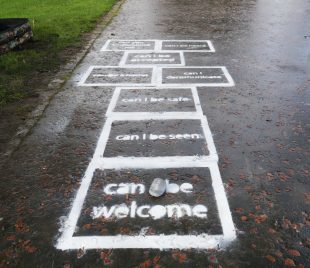 Stories of Belonging Hopscotch. Credit: Paria Goodarzi