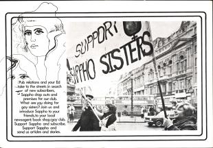 Sappho Volume 3 No1 April 1974. Credit: GWL