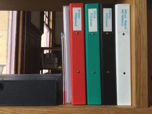 Programming Folders. Credit: GWL
