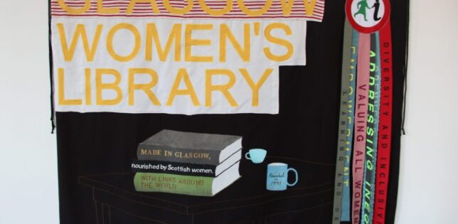 Glasgow Women's Library Banner, created by Fiona Jack. Credit: GWL
