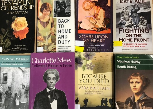8 book covers of books written by women in the interwar years
