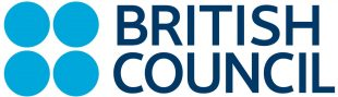 "The British Council logo. It has four blue circles, two on top of two, to the left of text that is written in block capitals and reads, ""British Council""."
