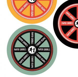 Paper Grrls Badges Credit: GWL