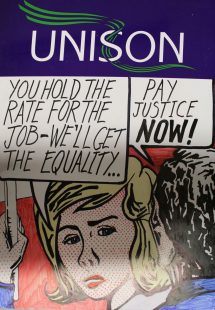 Unison Glasgow Equal Pay Campaign Placard
