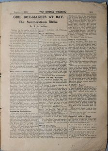 Article from The Woman Worker