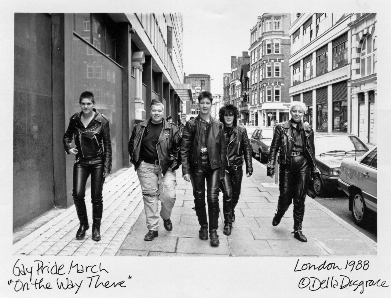 """Credit: Gay Pride March """"On the Way There"""" London 1988 (c) Della Disgrace courtesy of Rebel Dykes"""