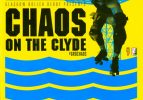 Chaos on the Clyde programme in colour print of yellow and blue