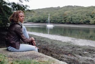 Gillian Burke by river for Open the Door 2020