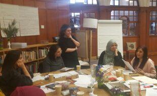Sara Shaarawi leading a workshop with Muslim women. Credit: GWL