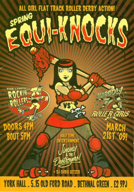 'Spring Equi-Knocks' - Bout Programme. London Rockin' Rollers vs Glasgow Roller Girls March 21st 2009