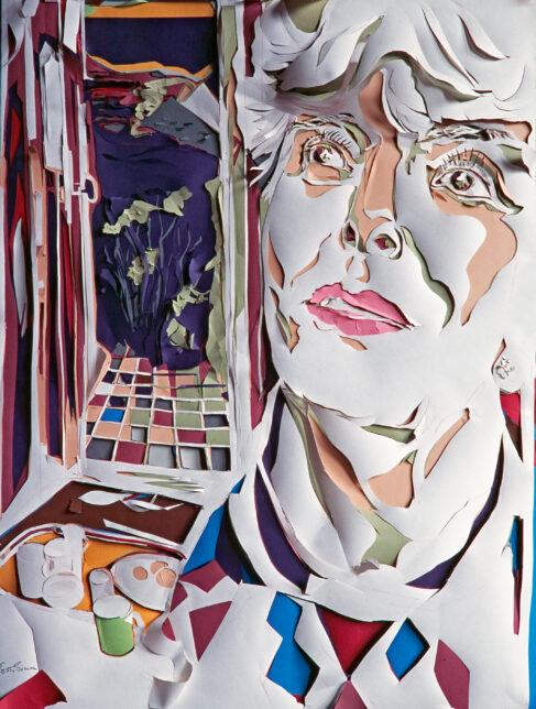 scalpel painting by Edith Simon depicting Pat Leishman