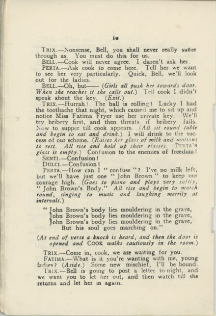 Page 10 from The Cricket Match play written for eight females