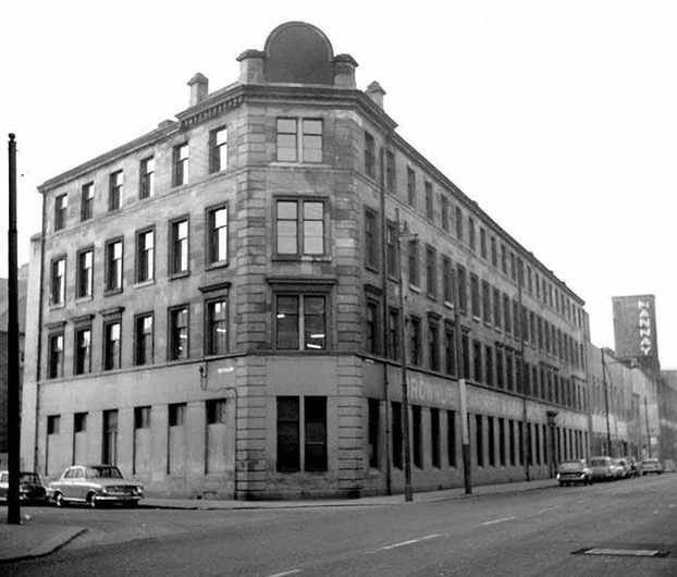 Image of the outside of the Singer Sewing factory at 116 James Street, Bridgeton