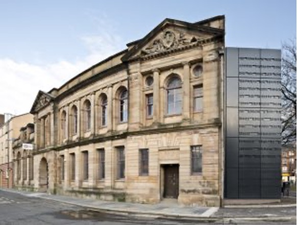 Photograph of the outside of the Glasgow Women's Library building.