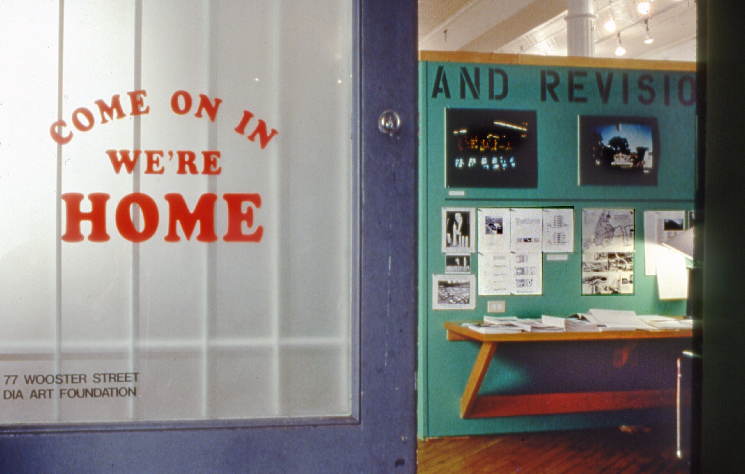 Image caption: Martha Rosler, Entrance view of Home Front, part of the If You Lived Here… (1989) exhibition project at the Dia Art Foundation, New York City.